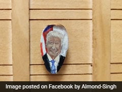 Chandigarh-Based Artist Makes Portrait Of Donald Trump On Almond