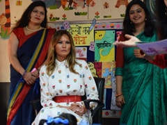 """Is America Very Far?"" Delhi Schoolchildren Ask Melania Trump"