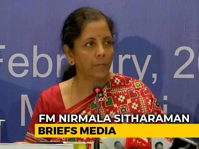 Video : Grateful RBI Is In Lockstep With Government: Nirmala Sitharaman