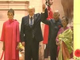Video : Donald Trump, Melania At Rashtrapati Bhavan For State Banquet