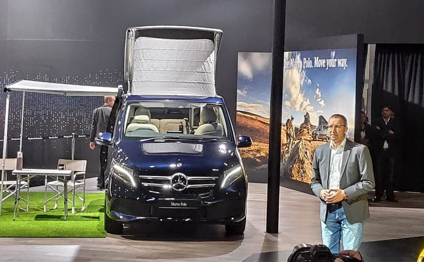 Martin Schwenk, CEO, Mercedes-Benz India at the V-Class Marco Polo launch.
