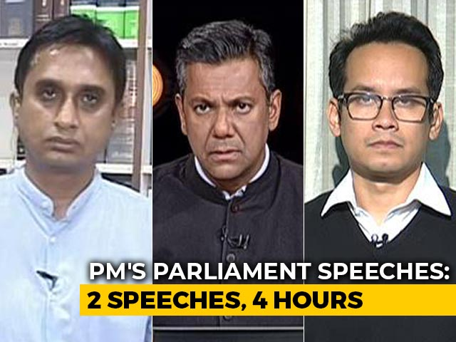 Video : PM's All-Out Attack On Opposition In 2 Parliament Speeches