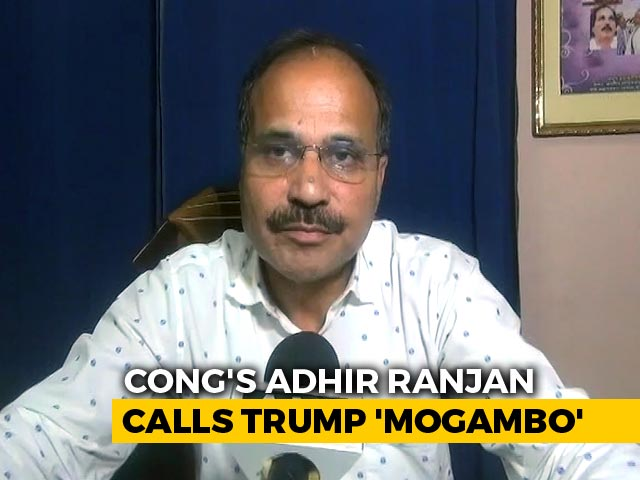 "Video : Congress Leader Likens Donald Trump To Bollywood Villain ""Mogambo"""