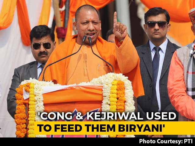 "Video : ""<i>Goli</i> Not Biryani For Terrorists"": Yogi Adityanath At First Delhi Rally"