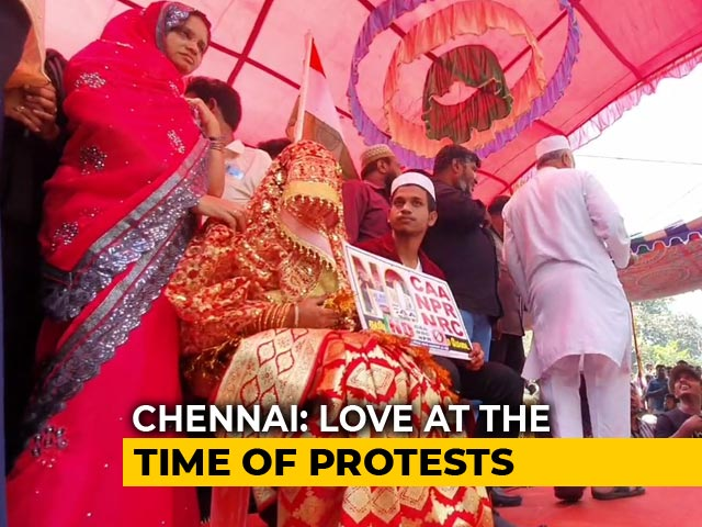 "Video : ""CAA Should Be Repealed"": Chennai Couple Gets Married At Protest"