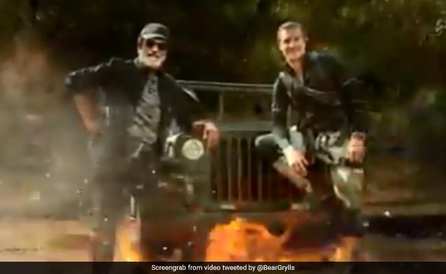 "Bear Grylls Teases Rajinikanth's ""Blockbuster TV Debut"". Watch"