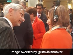 S Jaishankar Meets US House Speaker Nancy Pelosi In Munich