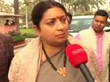"Video: ""Did He Even Understand"": Smriti Irani's Jibe At Rahul Gandhi Over Budget"