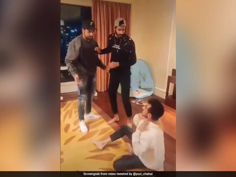 Yuzvendra Chahal, Rohit Sharma, Khaleel Ahmed Enact Funny Bollywood Scene. Watch