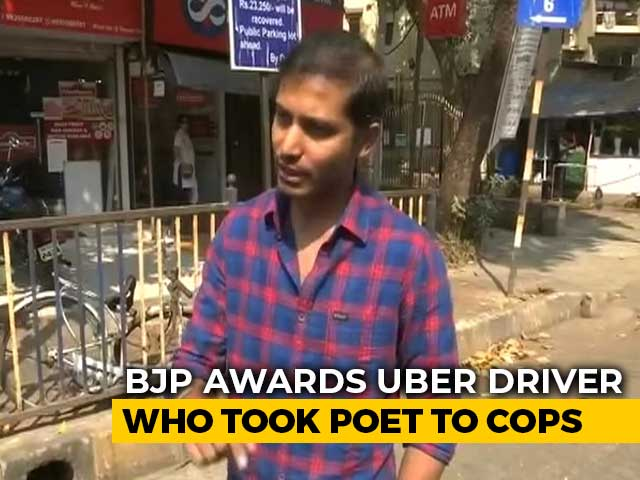 Video : BJP's 'Award' For Driver Who Took Poet To Mumbai Cops Over CAA Chat