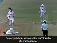आउट करने के बाद जमीन पर लेटकर ऐसा करने लगा गेंदबाज, देखकर हंस पड़ा बल्लेबाज... देखें Viral Video