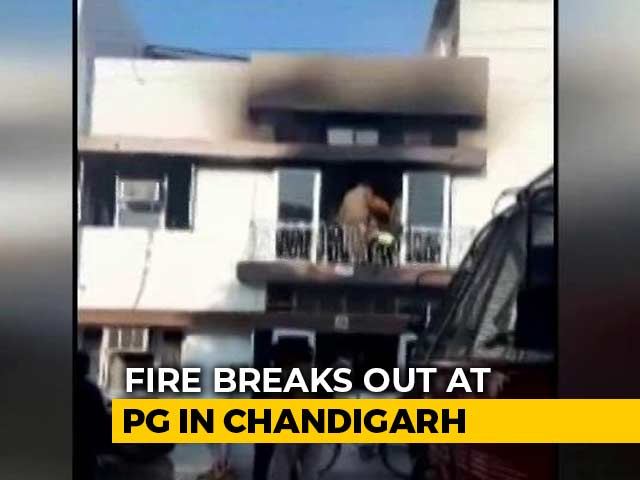 Video : 3 Students Dead After Massive Fire In Chandigarh Residential Building