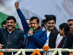 'Win For Bharat Mata,' Says Arvind Kejriwal After Big Delhi Victory
