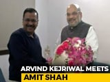 "Video : ""Good And Fruitful Meeting"" With Home Minister Amit Shah: Arvind Kejriwal"