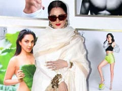 """<i>Yaha Danger Zone Hai</i>"": Rekha Hilariously Walks Away From Amitabh Bachchan's Pic At An Event"