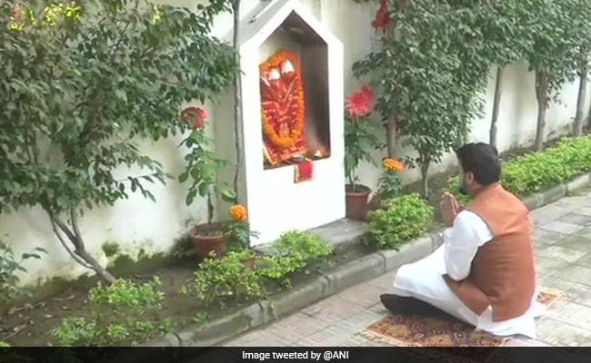 Anurag Thakur, Nirmala Sitharaman's Junior, Prays At Home Before Budget