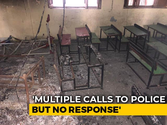 Video : At A Delhi School, Books, Exam Papers Now Ashes After Mob Set It On Fire