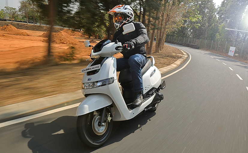 The TVS iQube electric scooter is priced at Rs. 1.15 lakh (On-road, Bengaluru)