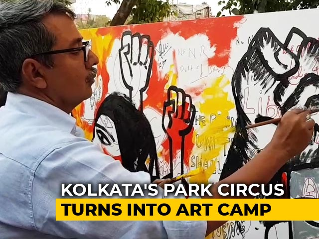 Video : Artists Protest Against CAA With Paint, Brush In Kolkata