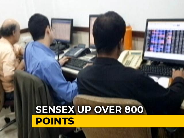 Video : Sensex Jumps Over 800 Points, Puts To Rest Budget Blues