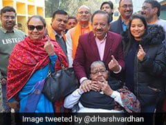 "Delhi Election 2020: Harsh Vardhan Casts Vote With Family, Says BJP Assured Of ""Quality Victory"""