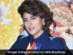 Shubh Mangal Zyada Saavdhan: स्क्रीनिंग में इस अंदाज में पहुंची ताहिरा कश्यप, देखें Photo