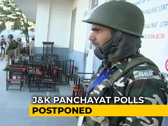 Video : Jammu And Kashmir Panchayat Elections Postponed Over Law And Order Issues