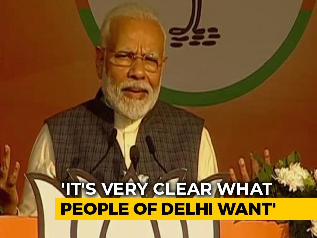 """Video : """"This Delhi Election Will Decide Its Future In The 21st Century,"""" Says PM"""