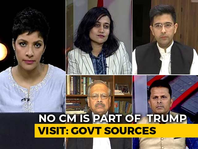 Video : No Chief Minister Part Of Donald Trump's India Visit: Government Sources