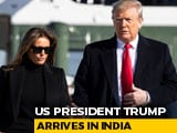 "Video : ""<i>Namaste Trump</i>"": US President, First Lady Melania Arrive In India"