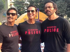 <i>Sooryavanshi</i>: When Real And Reel Life Cops Akshay Kumar And Ajay Devgn Converged At A Marathon