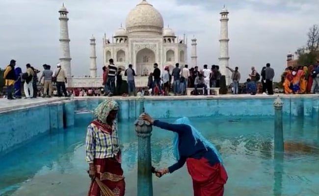 In Agra Makeover For Trump Visit, Water Released Into Yamuna, Fresh Paint