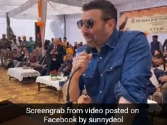 Watch: BJP MP Sunny Deol Dances, Speaks Film Lines At His Constituency