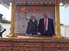 """Namaste Trump"": US President, First Lady Melania Arrive In India"