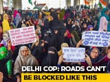 Video : 1,000 Women Block Delhi Road Over CAA, Back Bhim Army's Strike Call