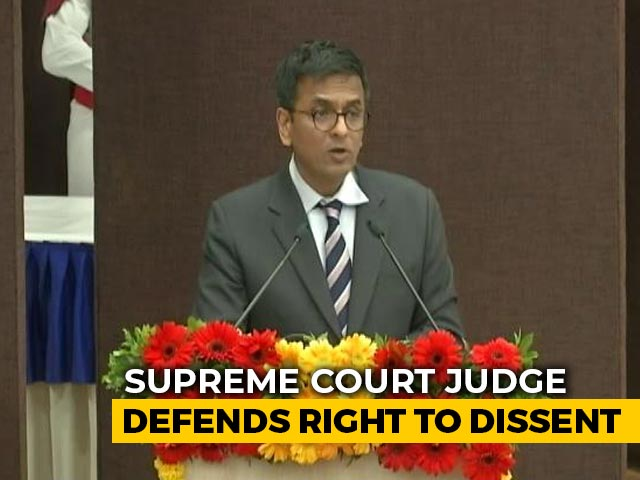 "Video : Supreme Court Judge Warns Against ""Labelling Dissent As Anti-National"""