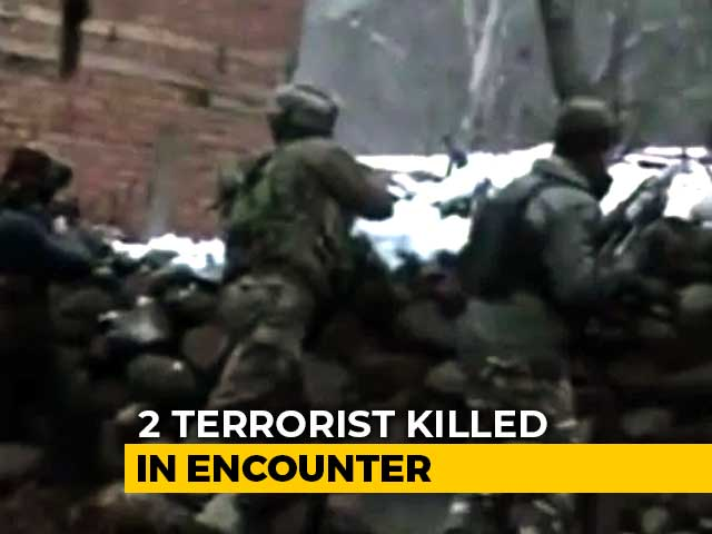 Video : 2 Lashkar Terrorists Killed In Encounter With Security Forces In J&K