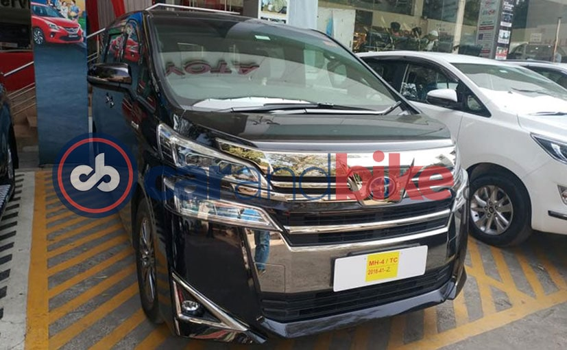 The Toyota Vellfire MPV was spotted at a dealership, and is expected to launch soon