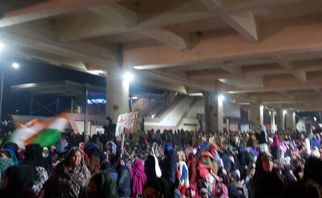 Women Gather Near Delhi's Jaffrabad Metro Station To Protest Against CAA, NRC