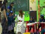 "Video : Melania Trump Sits Down With Delhi Schoolchildren At ""Happiness Class"""
