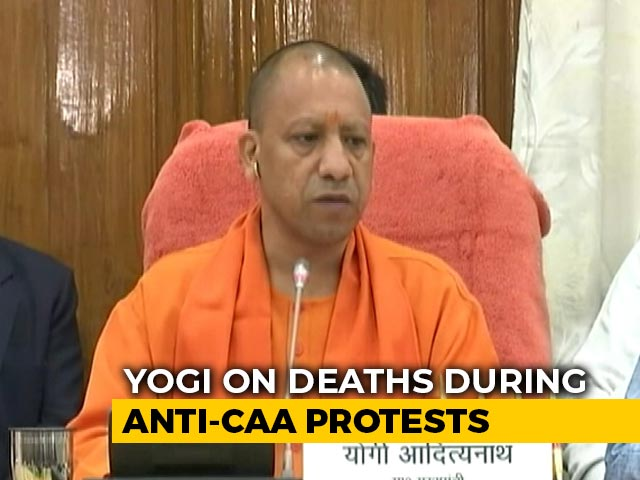 "Video : Controversy Over Yogi Adityanath's ""Death Wish"" Remark On CAA Violence"