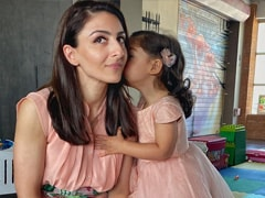 This Pic Of Pint-Sized Inaaya Whispering In Mom Soha Ali Khan's Ear Is Just Too Cute