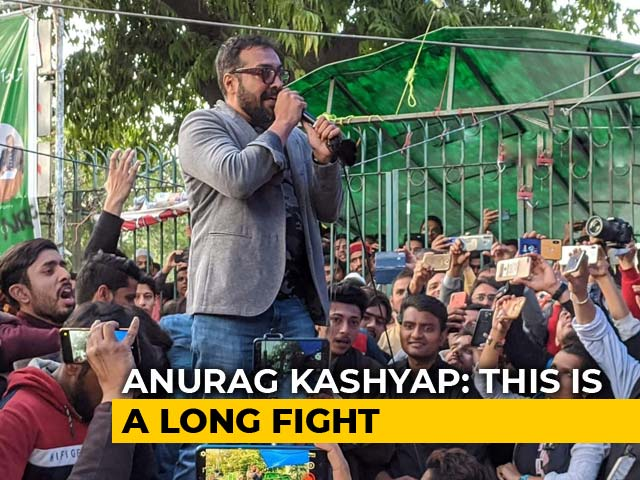 'Long Fight, Will Have To Be Patient': Anurag Kashyap Joins CAA Protests At Jamia