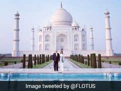 """POTUS And FLOTUS At Taj Mahal"": Melania Trump Tweets Video Of Guided Tour"