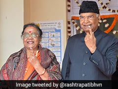President Ram Nath Kovind, Wife Cast Their Vote In Delhi Assembly Elections