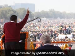 "Watch: Arvind Kejriwal Sings ""<i>Hum Honge Kamyaab</i>"" At Third Oath Ceremony"