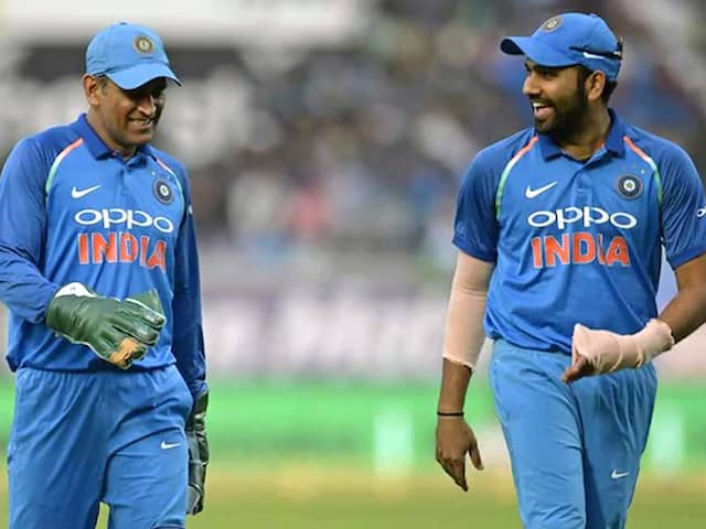 "Rohit Sharma Rates MS Dhoni As ""Best Captain India Has Seen"""