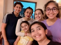 Namrata Shares Million-Dollar Pic With Gautham, Sitara And Friends