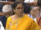 "Video : ""Every Household Saves Average 4% Annually Because Of GST"": Nirmala Sitharaman"