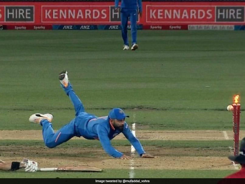 New Zealand vs India: Virat Kohli Shows Lightning-Fast Speed To Run Out Henry Nicholls. Watch Video